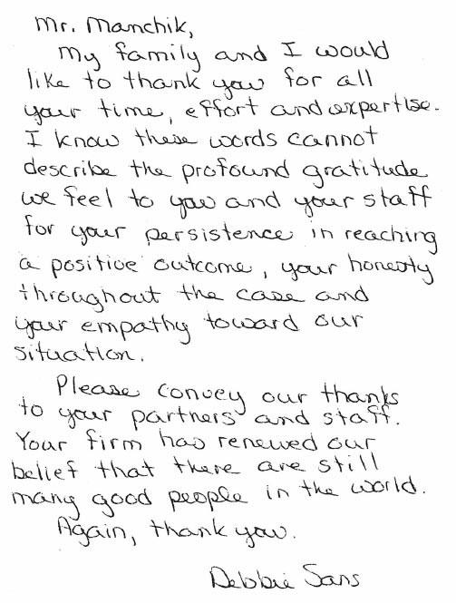 Testimonial of happy customer