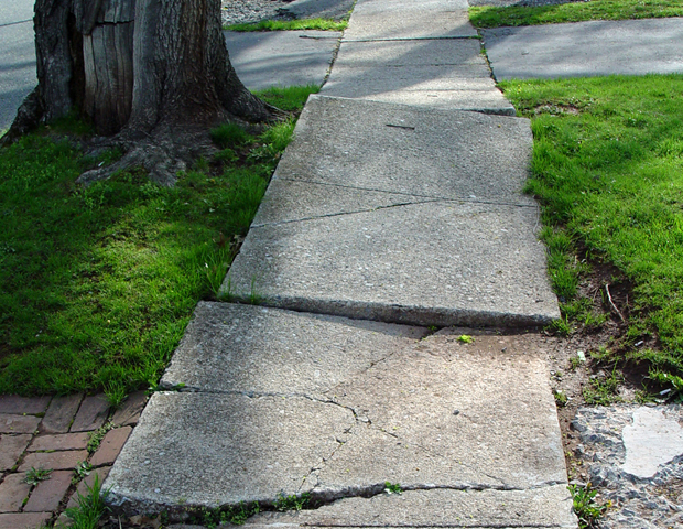 Sidewalk in bad condition